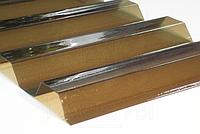 Монолитный профилированный поликарбонат Borrex (Борекс)1,05*2 м 0,8 мм Бронза, фото 1