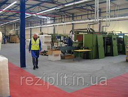 Резиновое напольное покрытие складов и производств.
