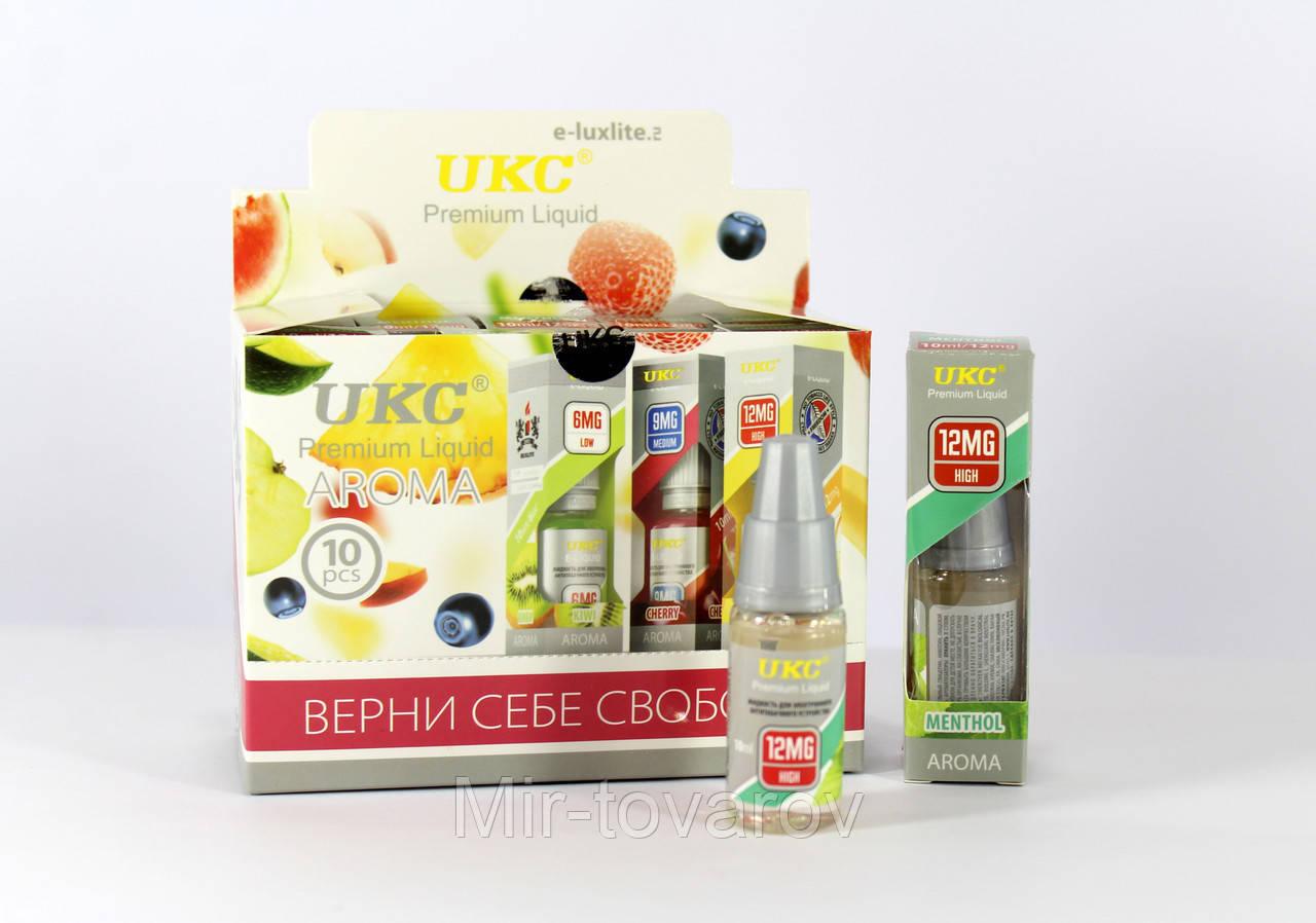 Жидкость с никотином Menthol  Ментол  12mg/10ml  Продается по 10 штук   600