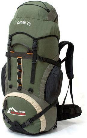 Рюкзак туристический Travel Extreme Denali 70 серо-зелёный, фото 2