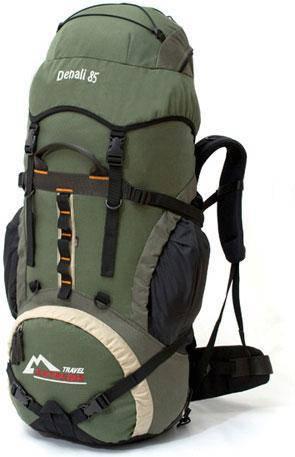 Рюкзак туристический Travel Extreme Denali 85 серо-зелёный, фото 2