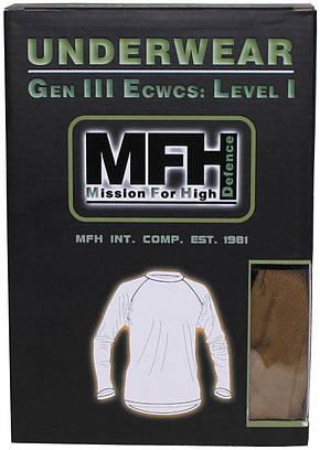Термокофта мужская 1й слой US GEN III чёрная (S) MFH 11403A, фото 2