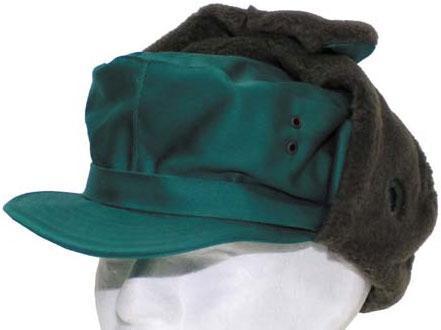 [как новая] Австрийская зимняя шапка р.57 зелёная 610027