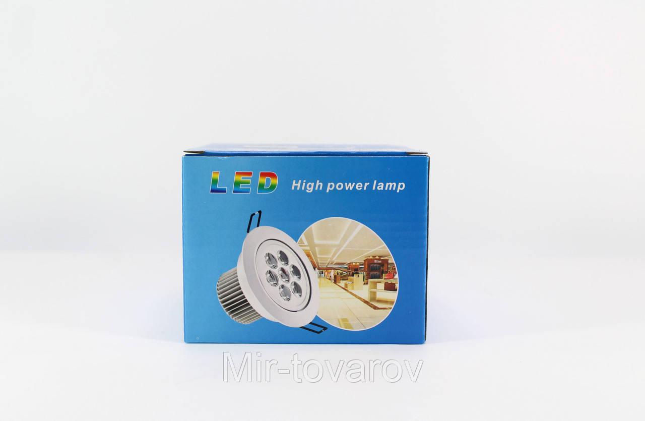 Лампочка LED LAMP 7W Врезная круглая точечная 1403  50