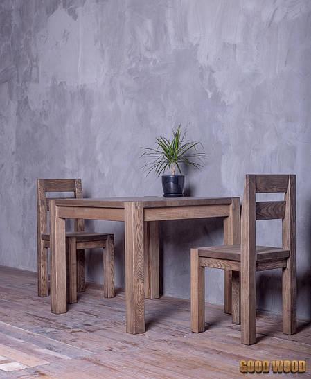 Стол деревянный Ст-2, ясень или дуб, (Ш900* В760 * Г900)