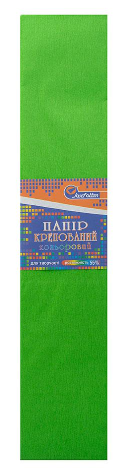 Папір креповая 55% світло-зелений
