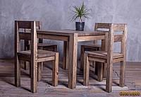 Стол обеденный деревянный W-1, ясень или дуб, (Ш900* В760 * Г900)
