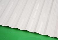 Монолитный профилированный поликарбонат Borrex (Борекс)1,05*4 м 0,8 мм Опал, фото 1