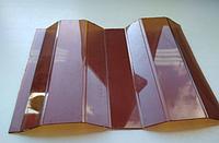 Монолитный профилированный поликарбонат Borrex (Борекс)1,05*4 м 0,8 мм Янтарь, фото 1