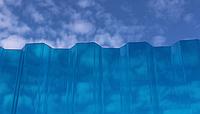 Монолитный профилированный поликарбонат Borrex (Борекс)1,05*6 м 0,8 мм Синий, фото 1
