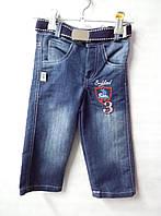 Детские джинсы на 2 года с ремешком