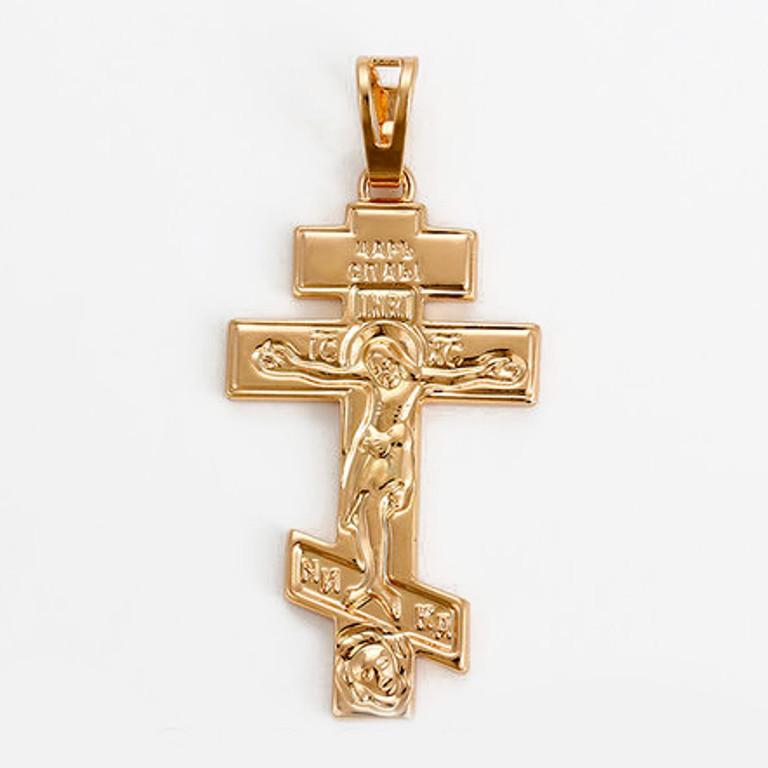 Крестик  xuping золото 18к  длина 4.2см к274