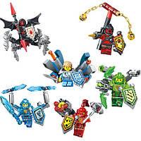 Конструктор LELE Nexo Soldiers (LEGO Nexo Knights) 6 ШТ. в дисплее от 75 до 111 деталей, 79243