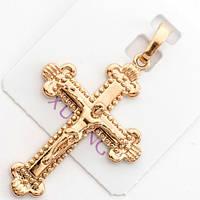 Крестик  xuping золото 18к  длина 4.1см к275