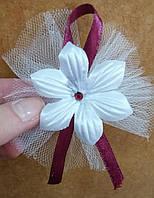 Свадебные цветочки для гостей (цвет - бордовый) Ц-г-3-борд-1