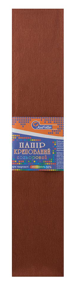 Папір креповая 55% коричневий