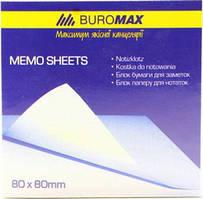Папір д/нотаток BUROMAX Веселка 80х80х30мм не скл.