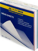 Папір д/нотаток BUROMAX Веселка 80х80х30мм скл.