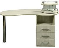 Стол маникюрный с крутящейся подставкой для лака 001L