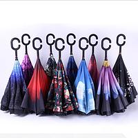 Зонт обратного сложения, умный зонт Umbrella, фото 1