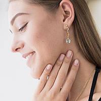 Золотые серьги с натуральными камнями