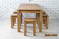 Стол деревянный обеденный Ст-1, ясень или дуб, (Ш1400* В760 * Г900)