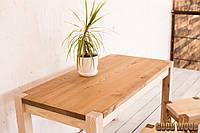 Стол деревянный W-1, ясень или дуб, (Ш1800* В760 * Г900)