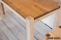 Стол деревянный W-1, ясень или дуб, (Ш1400* В760 * Г900)