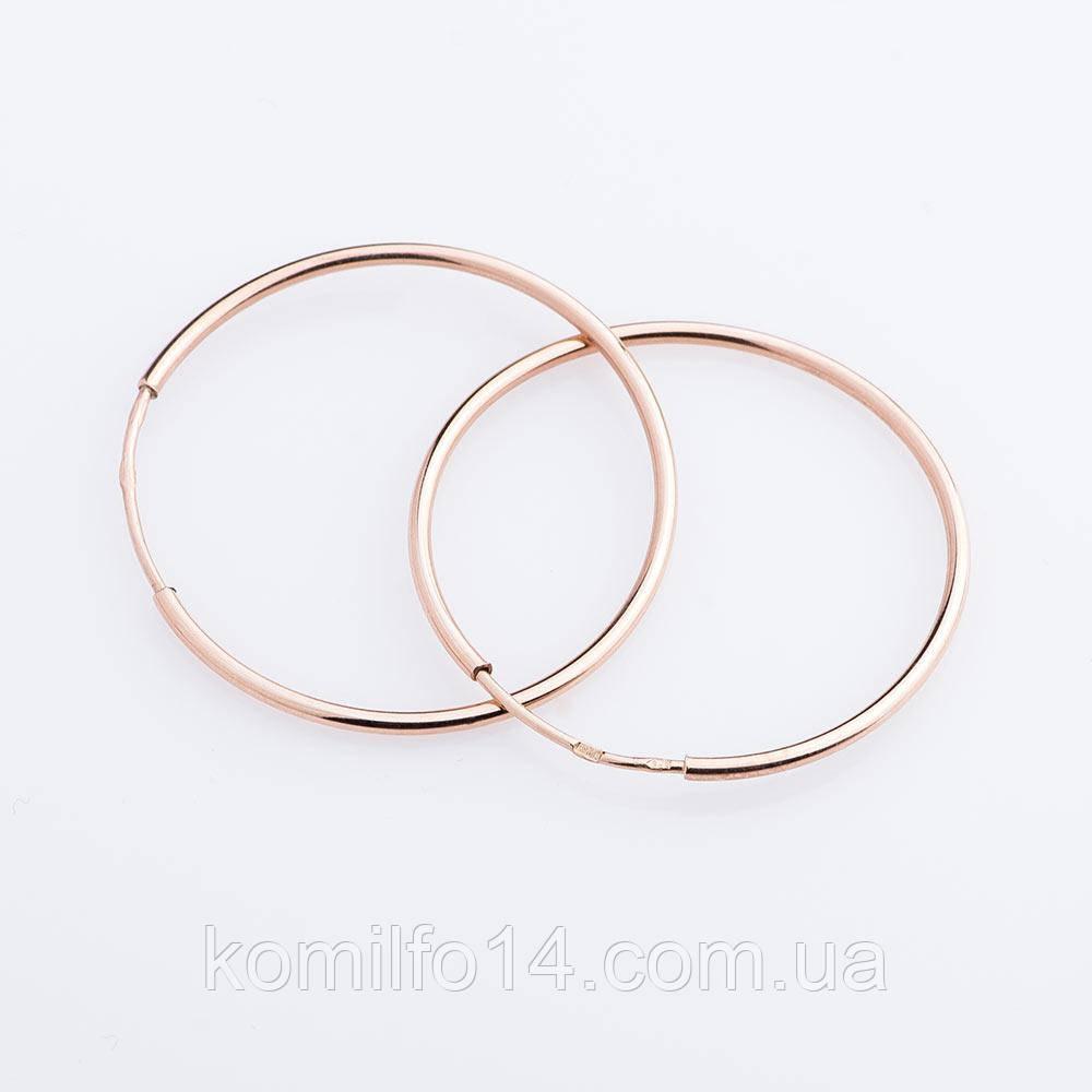 """Золотые серьги """"Кольца"""" 3,5 см"""
