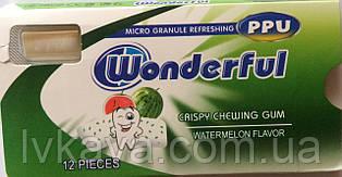 Жевательная резинка  Wonderful PPU арбуз, 12 гр