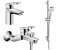 Logis Loop Набор смесителей для ванны, умывальник 100 (71151000+71244000+27353400)