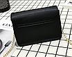 Женский клатч сумка на цепочке в стиле гермес Черный, фото 4