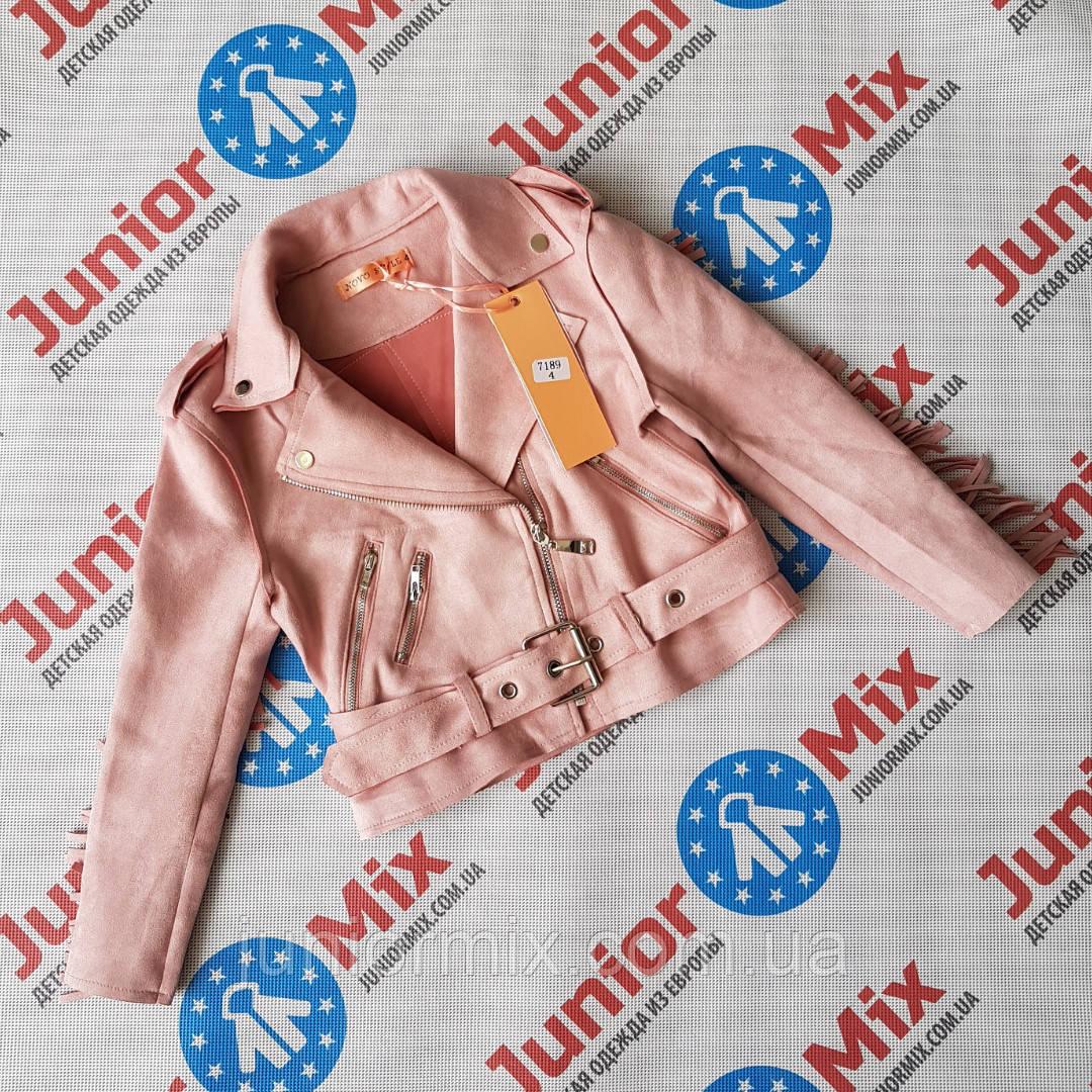 Модная подростковая куртка косуха  для девочек оптом  NOV STYLE