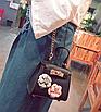 Сумка женская клатч мини с цветами детская Черный, фото 7