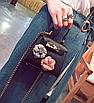 Сумка женская клатч мини с цветами детская Черный, фото 2