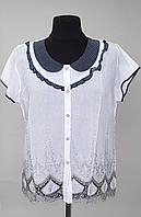 Блузка женская белая с кружевом