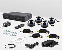 Комплект видеонаблюдения «установи сам» CnM Secure B44-4D0C KIT Dome PRO