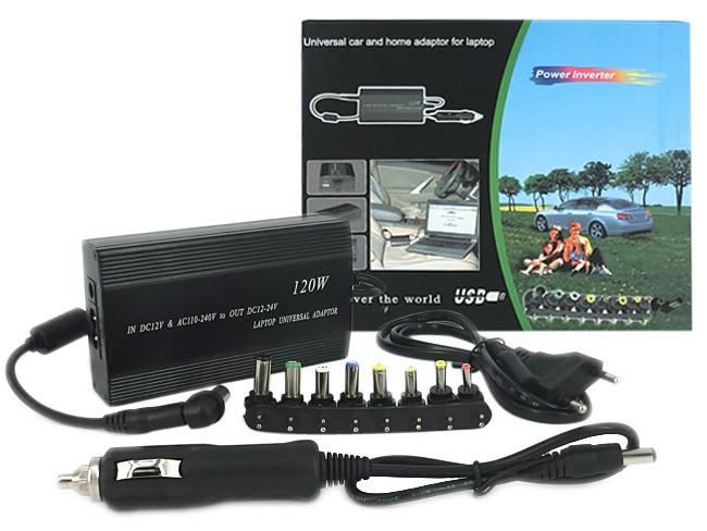 Універсальний перетворювач-адаптер для автомобіля та дома для ноутбуків та іншої техніки 120-150W
