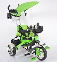 Велосипед Трехколесный Lexus-Trike OPT-S-LX-570 Green (надувное резиновое колесо,Укомплектован большой, прочной, вместительной корзиной в задней части