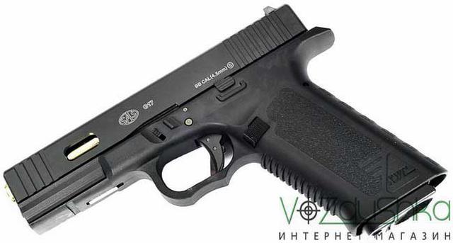 Пневматический пистолет SAS G17Glock 17Blowback (KMB-19AHN)