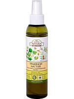 """Травяной настой для сухих и поврежденных волос """"Липовый цвет и облепиховое масло"""" Зеленая аптека, 150 мл."""