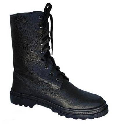 Ботинки (берцы) юфтевые ВФ демисезон ОМОН Бортопрошивные черные, фото 2