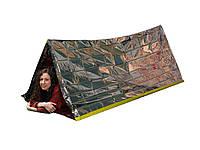 Спасательный тепловой тент палатка термоодеяло из фольги майлара