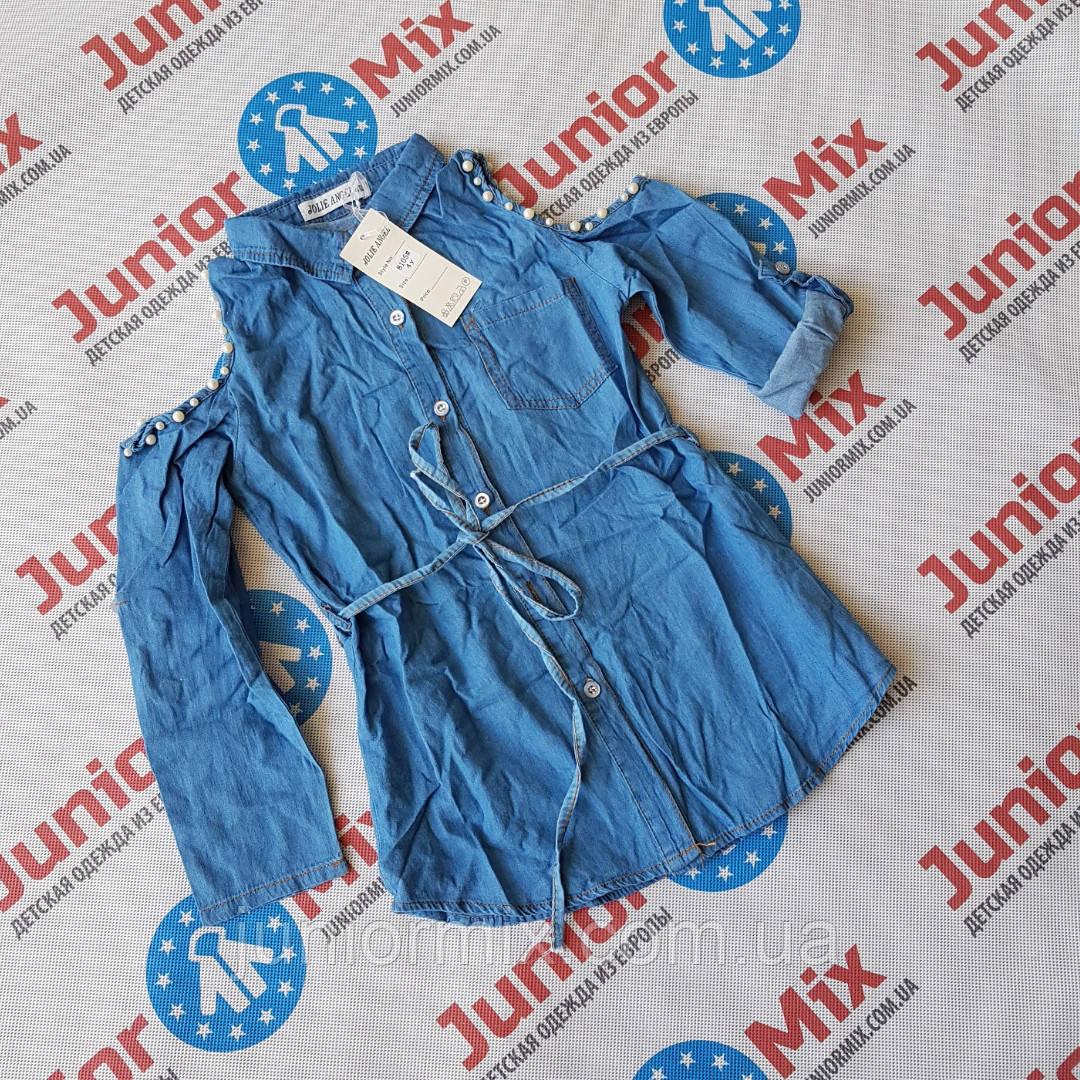 Джинсовая модная туника для девочек оптом   JOLIE  ANGEL