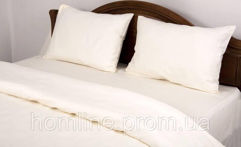 Постельное белье Lotus Сатин Классик ванильное полуторный размер (Турция)