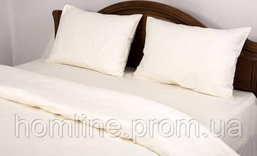 Постельное белье Lotus Сатин Классик ванильное евро размер (Турция)