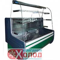 Кондитерская холодильная витрина Айстермо  ВХК ОРБИТА 1.2 с гнутым стеклом (статика)