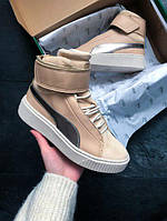 Кроссовки женские Puma WMNS Basket Platform Mid Up Natural Vachetta/Birch, пума
