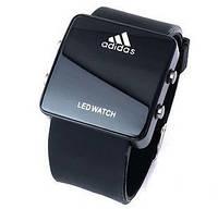 Часы наручные электронные Led Adidas черные реплика