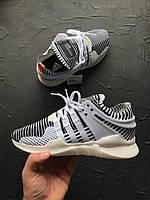Кроссовки Adidas Eqt support adv primeknit zebra featured. Живое фото. Топ качество! (Реплика ААА+)
